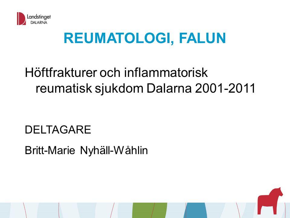 REUMATOLOGI, FALUN Läkemedelsöverlevnad vid Methotrexatbehandling utan upptrappning DELTAGARE Valgerdur Sigurdardottir