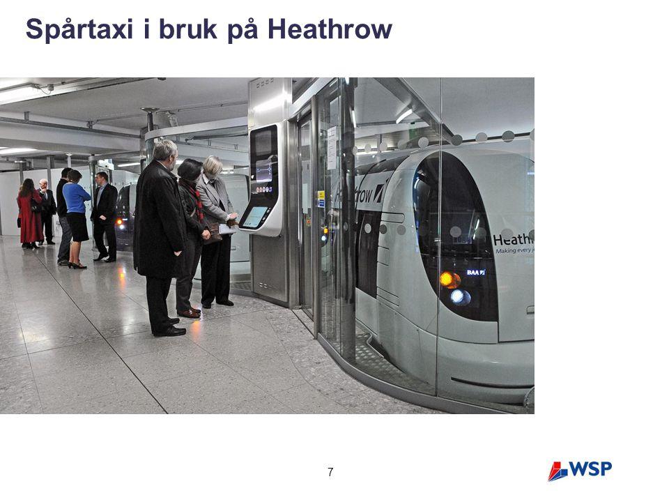 7 Spårtaxi i bruk på Heathrow
