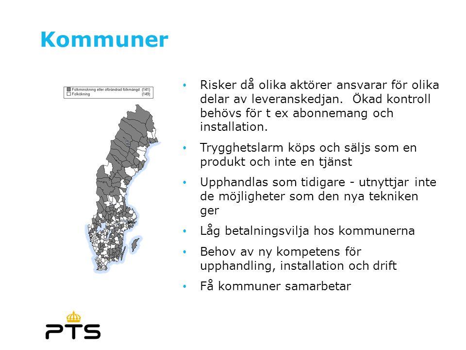 7 Kommuner • Risker då olika aktörer ansvarar för olika delar av leveranskedjan.