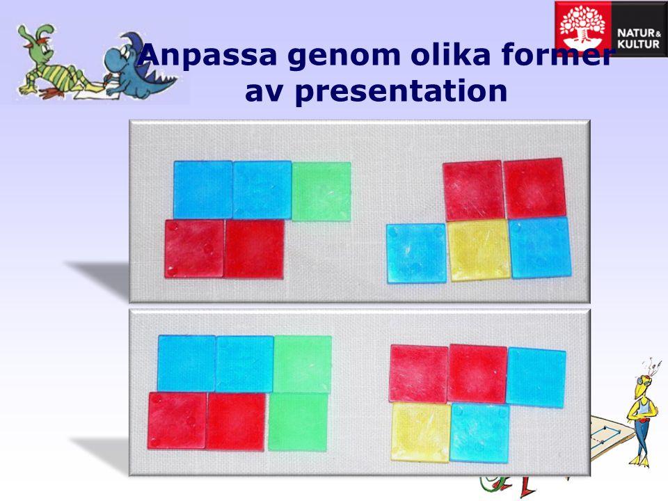 Anpassa genom olika former av presentation