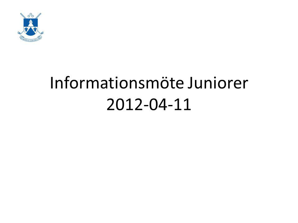 Informationsmöte Juniorer 2012-04-11