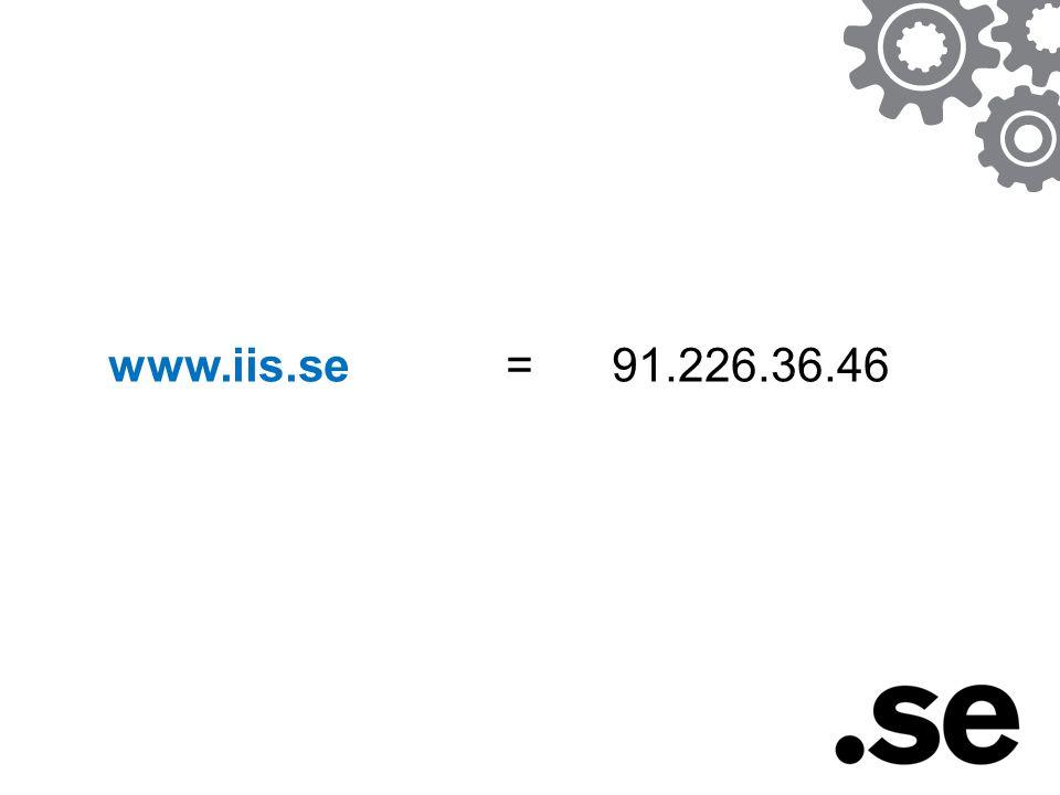 www.iis.se = 91.226.36.46