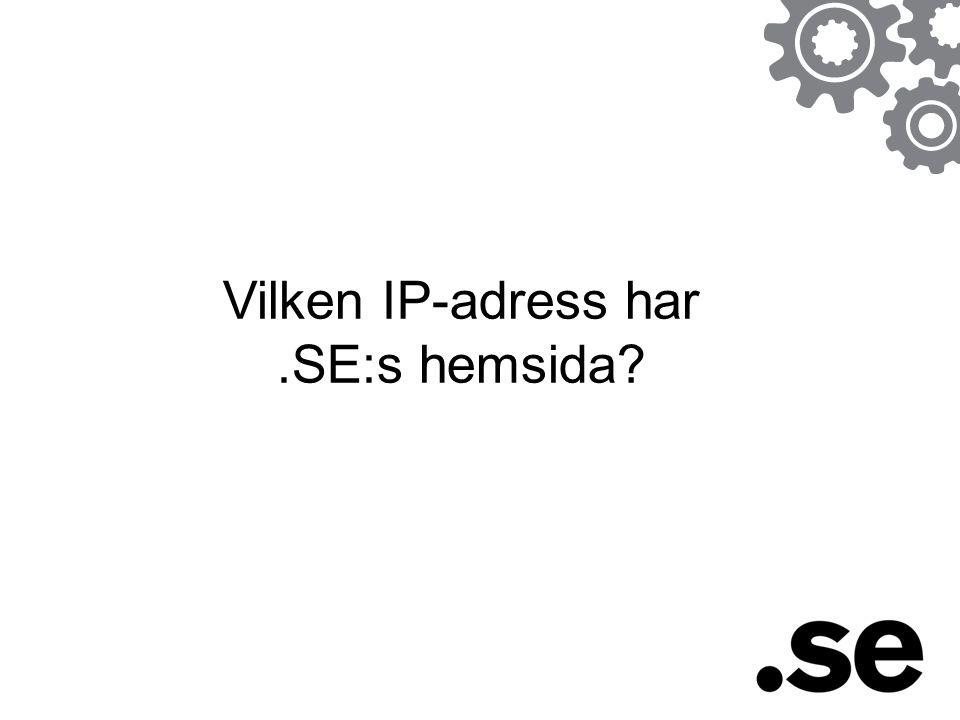 Vilken IP-adress har.SE:s hemsida?