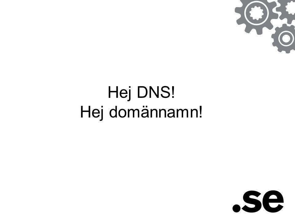 Hej DNS! Hej domännamn!