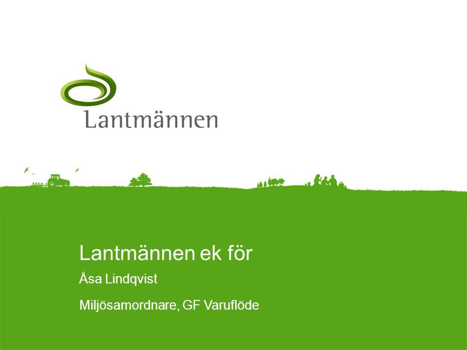 Landscape Lantmännen ek för Åsa Lindqvist Miljösamordnare, GF Varuflöde