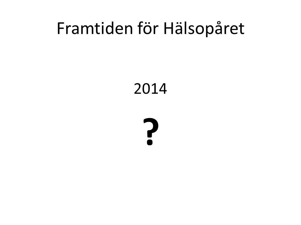 Framtiden för Hälsopåret 2014 ?