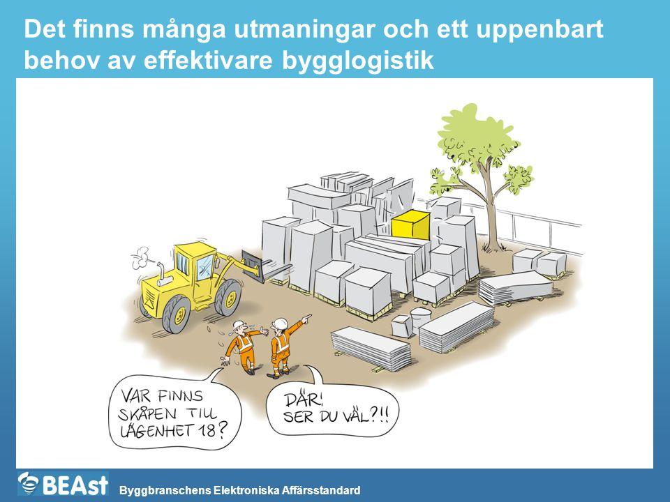 Byggbranschens Elektroniska Affärsstandard Det finns många utmaningar och ett uppenbart behov av effektivare bygglogistik