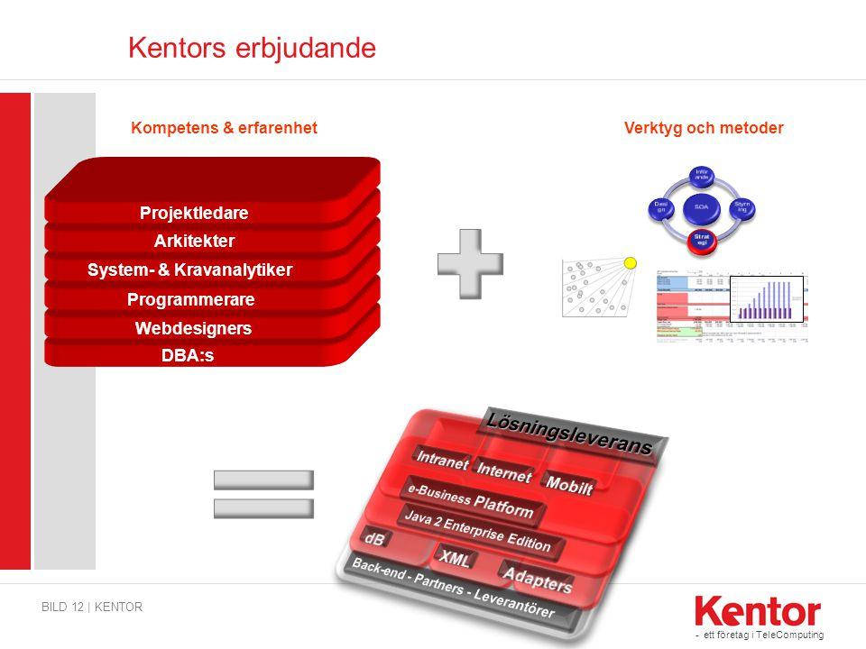- ett företag i TeleComputing DBA:s Webdesigners Programmerare System & IT-arkitekter Arkitekter Projektledare Kompetens & erfarenhet Kentors erbjudan