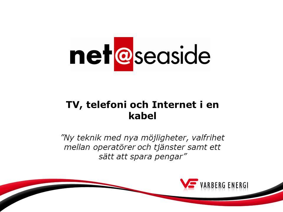 TV, telefoni och Internet i en kabel Ny teknik med nya möjligheter, valfrihet mellan operatörer och tjänster samt ett sätt att spara pengar
