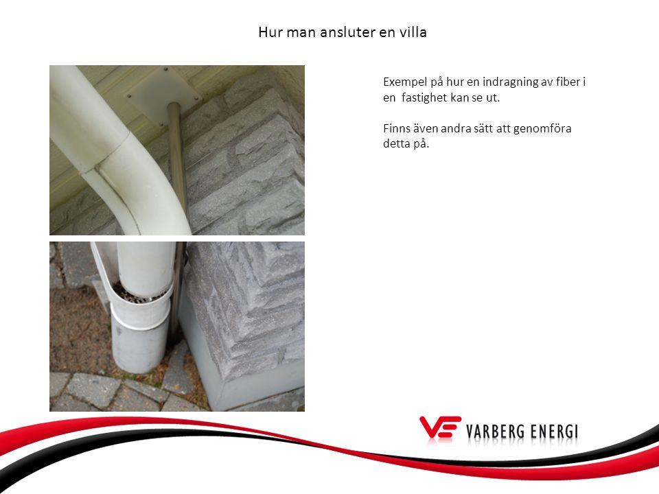 Hur man ansluter en villa Exempel på hur en indragning av fiber i en fastighet kan se ut.