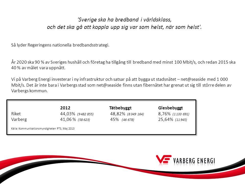 Sverige ska ha bredband i världsklass, och det ska gå att koppla upp sig var som helst, när som helst .
