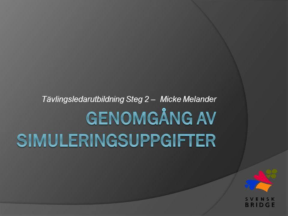 Tävlingsledarutbildning Steg 2 – Micke Melander