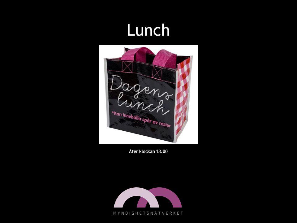 Lunch Åter klockan 13.00