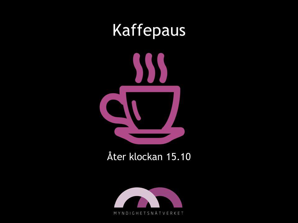 Kaffepaus Åter klockan 15.10