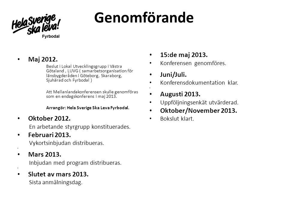 Genomförande • Maj 2012.