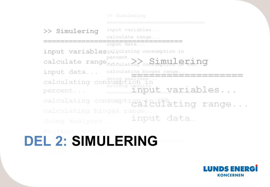 DEL 2: SIMULERING