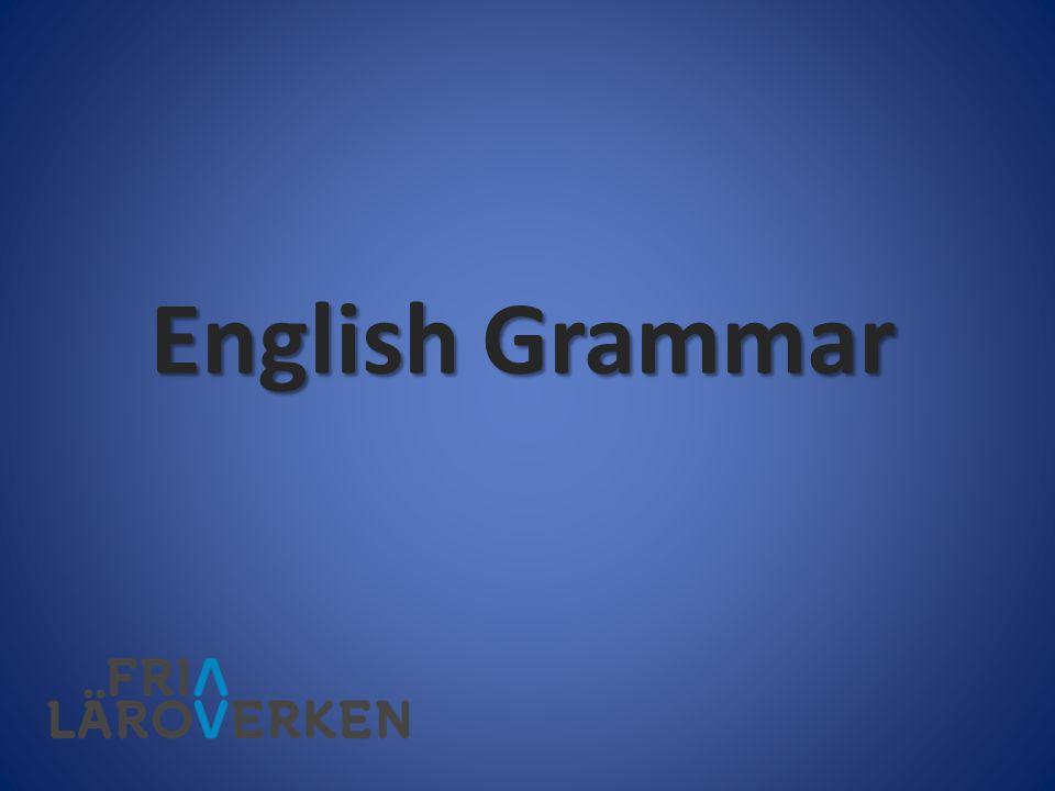 Singulara ord När du använder ovanstående ord påverkas verben i samma mening, och de måste då också uttryckas i singular.