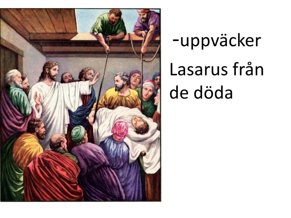 - uppväcker Lasarus från de döda