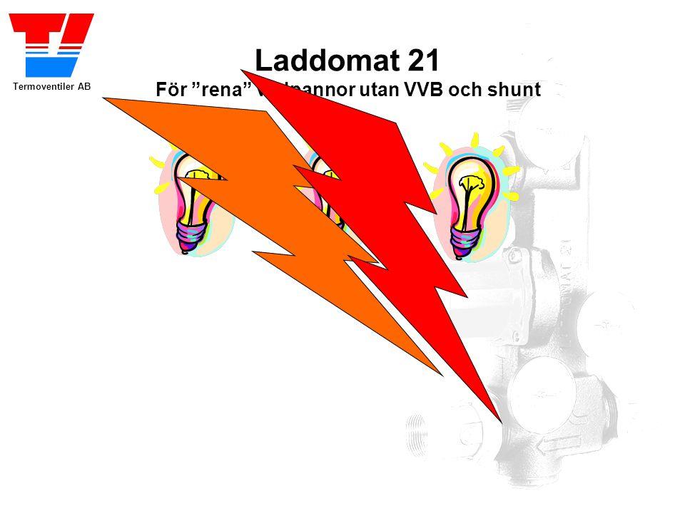 """Termoventiler AB Laddomat 21 För """"rena"""" vedpannor utan VVB och shunt Hemligheten bakom Laddomat 21 är skiktning. Ackumulatortankens fulla potential ka"""