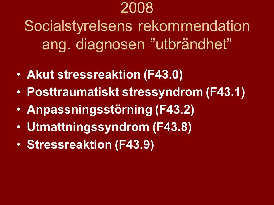 2008 Socialstyrelsens rekommendation ang.