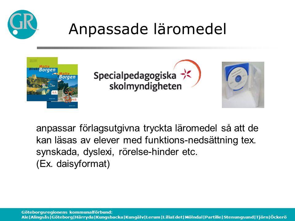 Göteborgsregionens kommunalförbund: Ale|Alingsås|Göteborg|Härryda|Kungsbacka|Kungälv|Lerum|LillaEdet|Mölndal|Partille|Stenungsund|Tjörn|Öckerö Anpassa