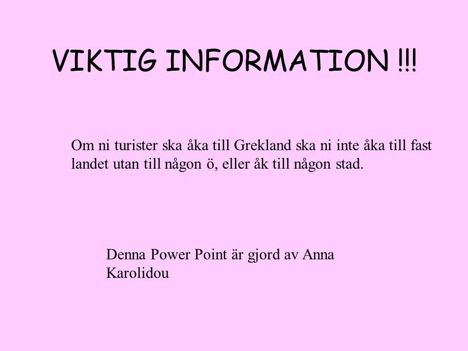 VIKTIG INFORMATION !!.