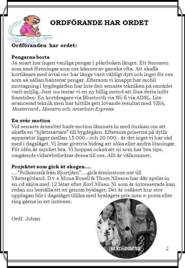 3 Julturné 2013 Nu är det jul igen.