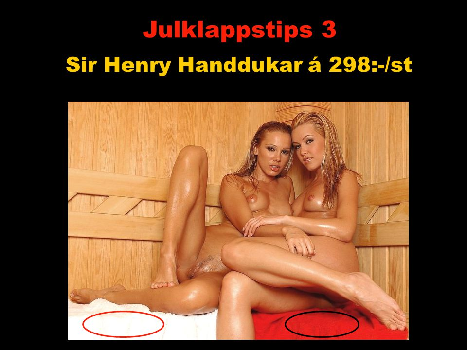Sir Henry Handdukar á 298:-/st Julklappstips 3