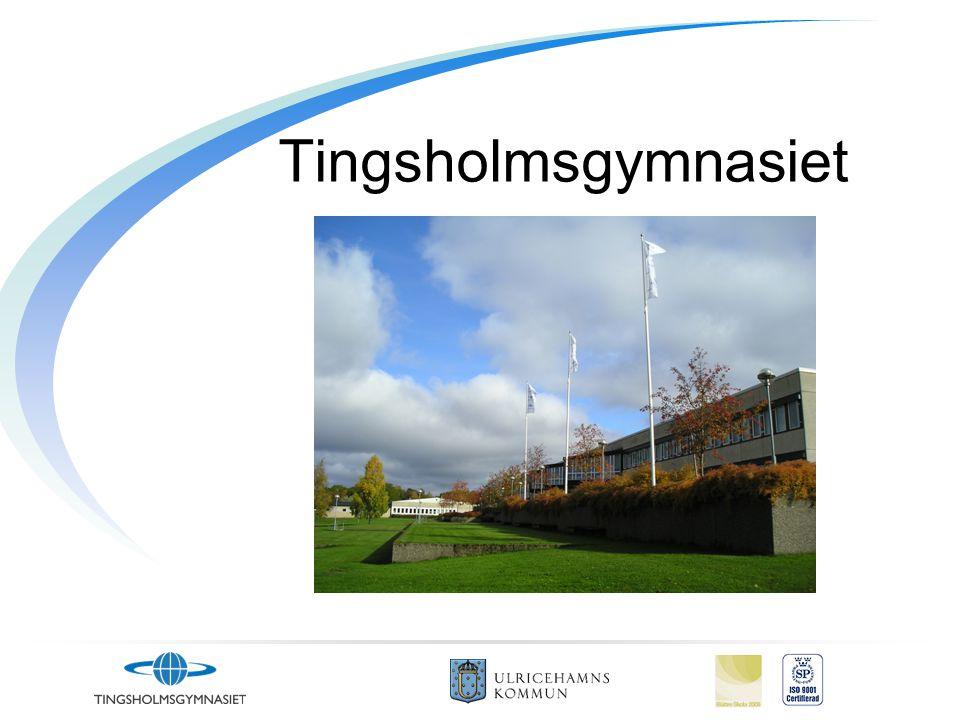 Ulricehamn •K•Kommun med 23000 invånare •C•Centralort med 8500 invånare •E•Enda gymnasieskolan •U•Utbildningar på andra orter i närheten •O•Om utbildningen finns, Väljer man Tingsholm!
