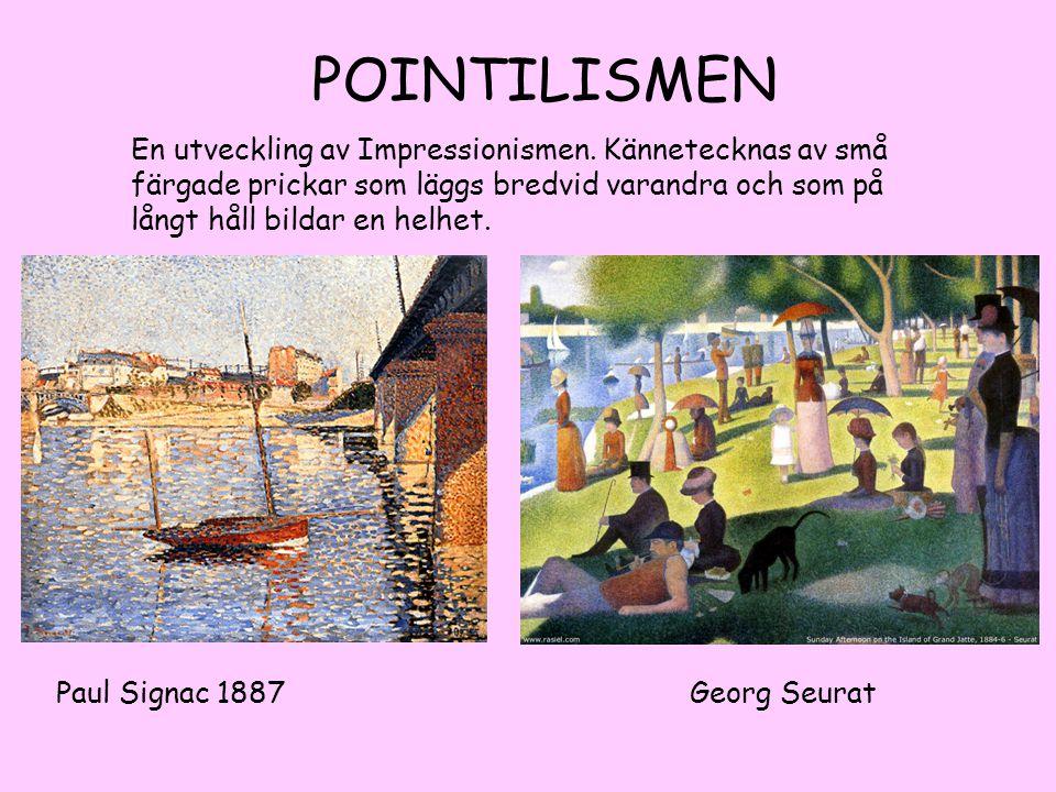 EXPRESSIONISMEN Emil Nolde 1867-1956 Ernst Ludwig Kirchner 1880-1938 Konstnären uttrycker inre känslor med färg och form.