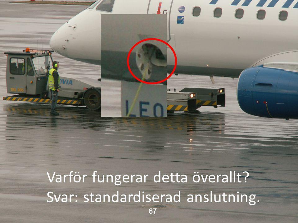 Skaraborgs sjukhus Varför fungerar detta överallt? Svar: standardiserad anslutning. 67