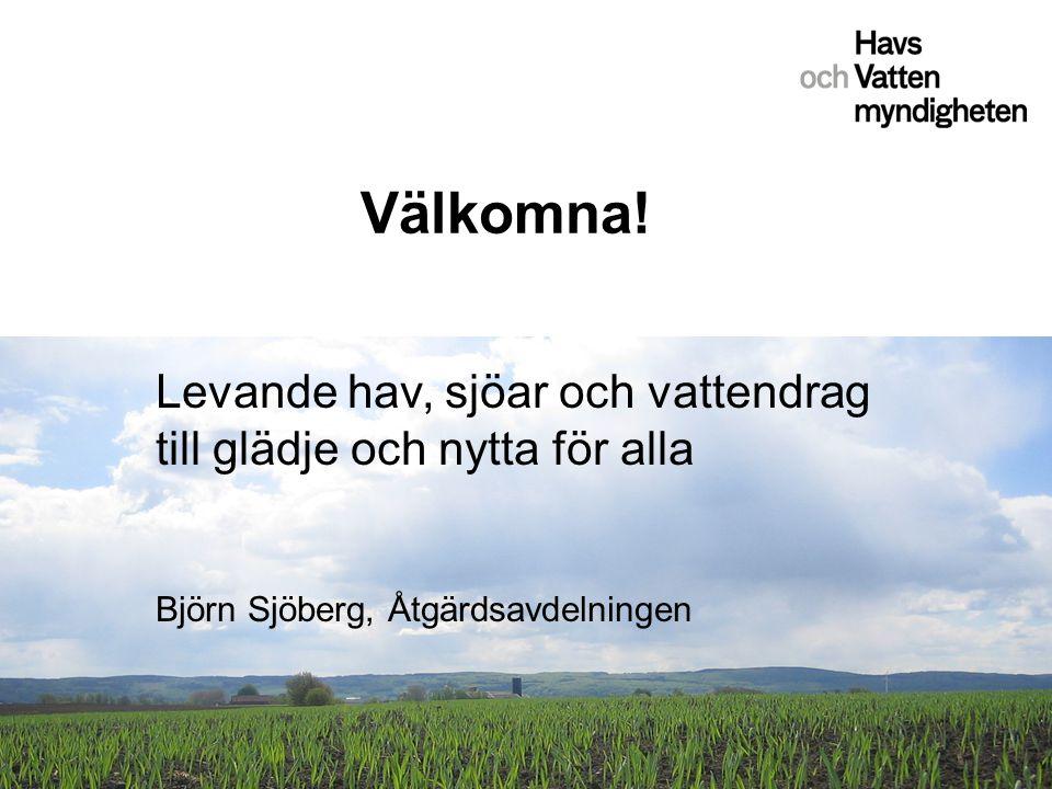 Välkomna! Levande hav, sjöar och vattendrag till glädje och nytta för alla Björn Sjöberg, Åtgärdsavdelningen