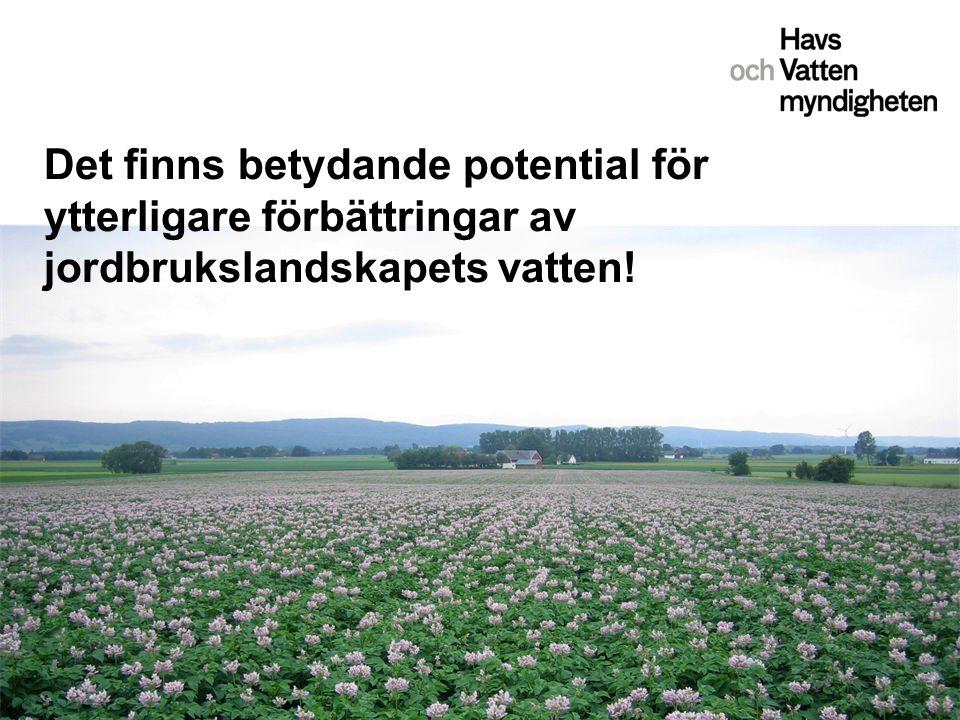 Det finns betydande potential för ytterligare förbättringar av jordbrukslandskapets vatten!