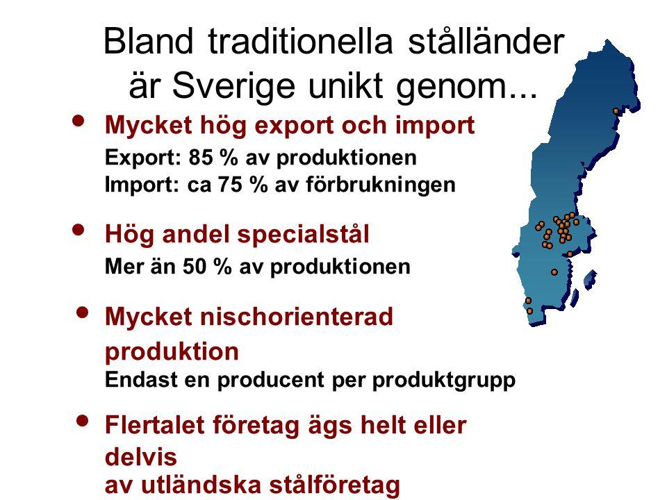 Bland traditionella stålländer är Sverige unikt genom...