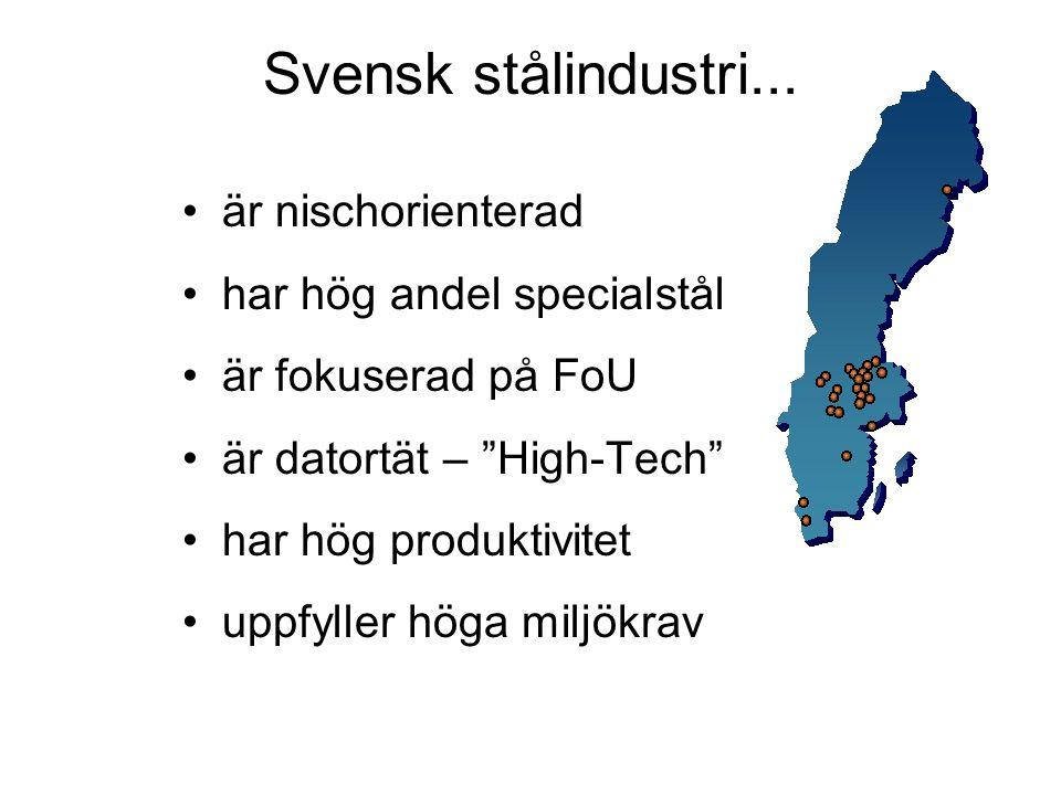Svensk stålindustri...
