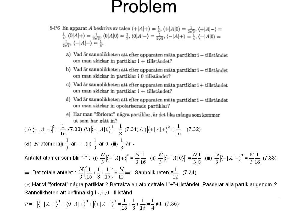Fk3002 Kvantfysikens grunder25 Problem