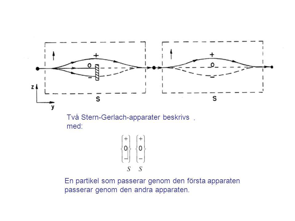 Fk3002 Kvantfysikens grunder26 Sammanfattning •Kvantfysikens lagar tillåter oss att bara känna till det total spinnrörelsemängdsmomentet samt komponenten längs en axel.