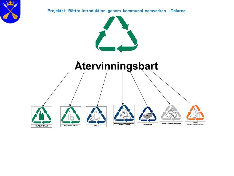 Projektet: Bättre introduktion genom kommunal samverkan i Dalarna Återvinningsbart