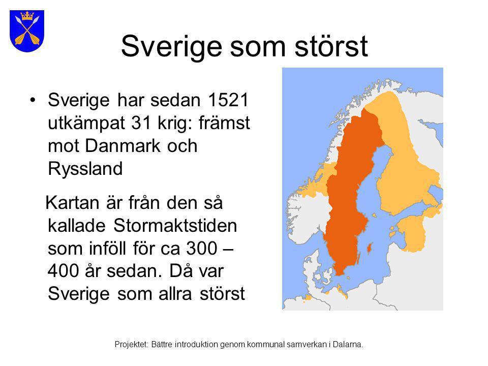 Svenska språket Projektet: Bättre introduktion genom kommunal samverkan i Dalarna.