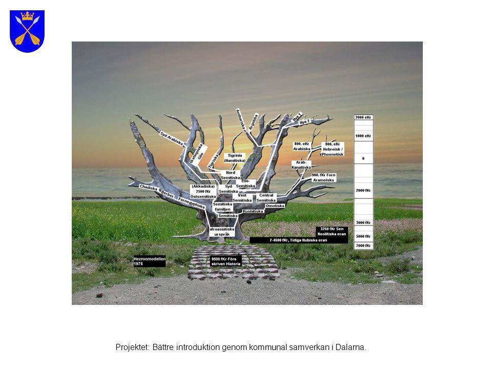Svenska språkets utbredning Projektet: Bättre introduktion genom kommunal samverkan i Dalarna.