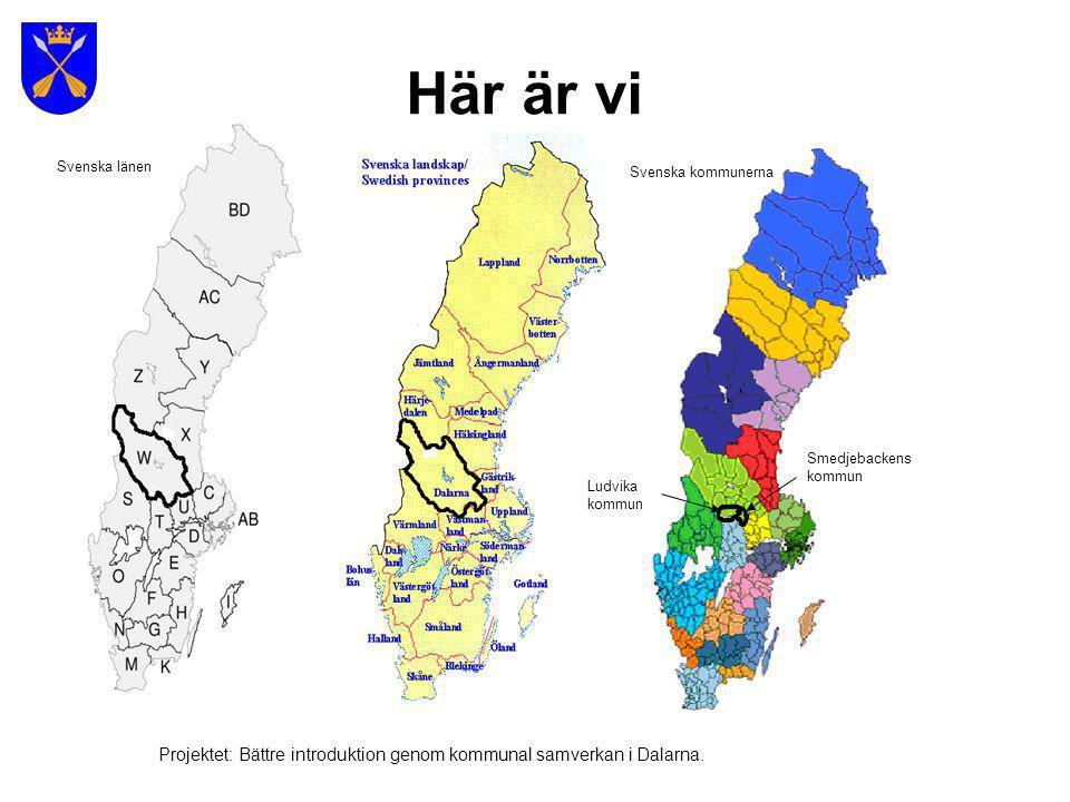 Största kommuner sett till befolkning 1) Stockholms kommun (782 885 inv.) 2) Göteborgs kommun (489 757 inv.) 3) Malmö kommun (276 244 inv.) 4) Uppsala kommun (185 187 inv.) 5) Linköpings kommun (138 580 inv.) 1.