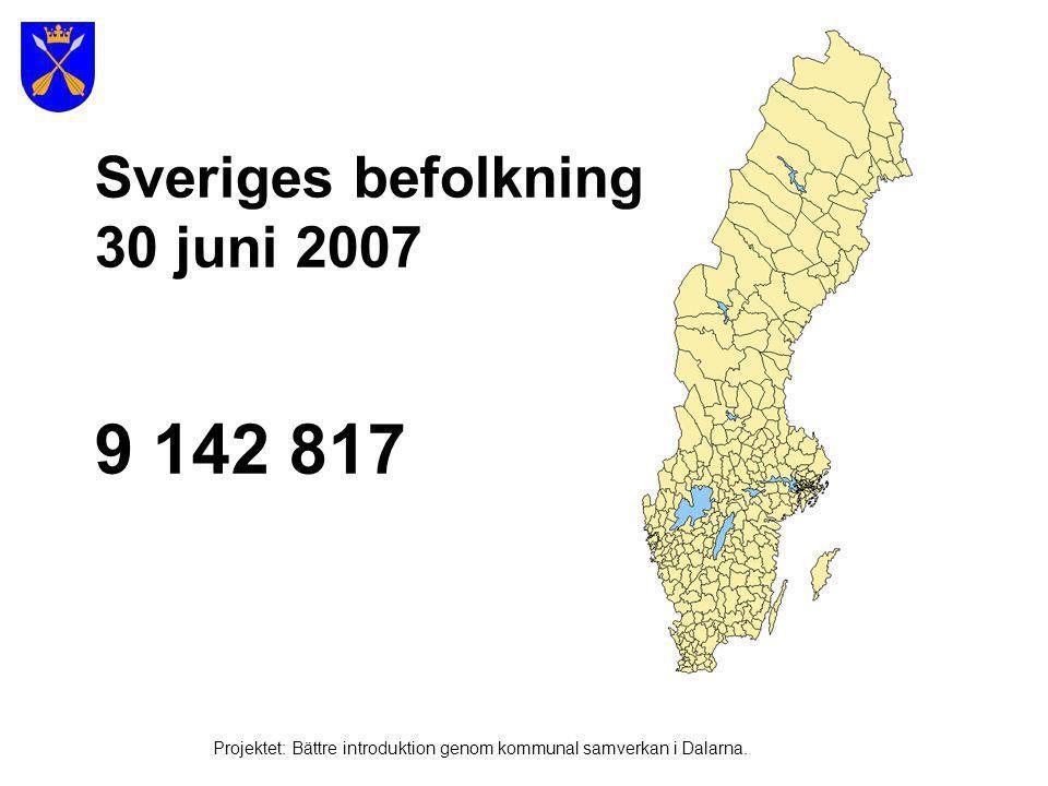 Stockholm – Sveriges huvudstad Projektet: Bättre introduktion genom kommunal samverkan i Dalarna.