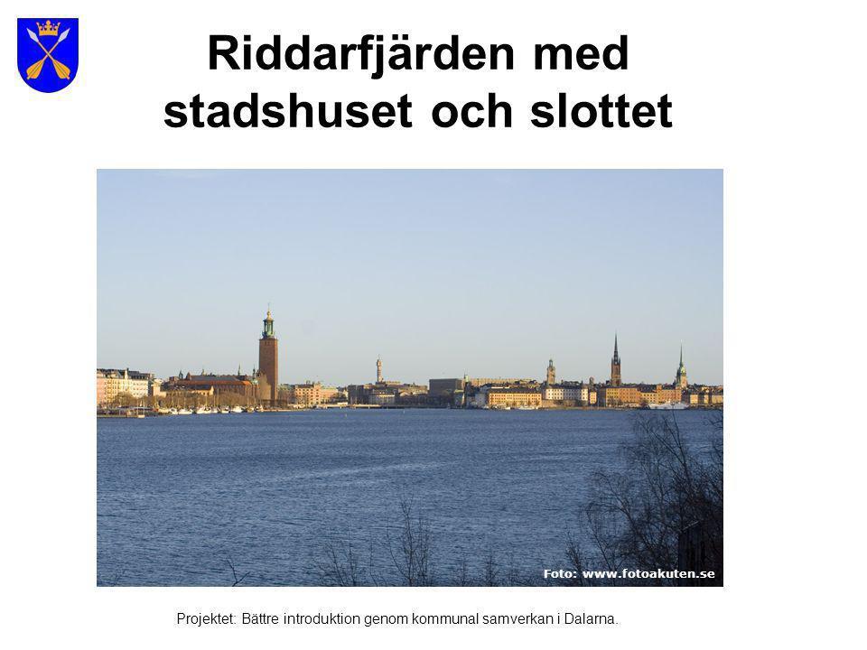 Stockholms slott Bild: Multimediabyrån Projektet: Bättre introduktion genom kommunal samverkan i Dalarna.