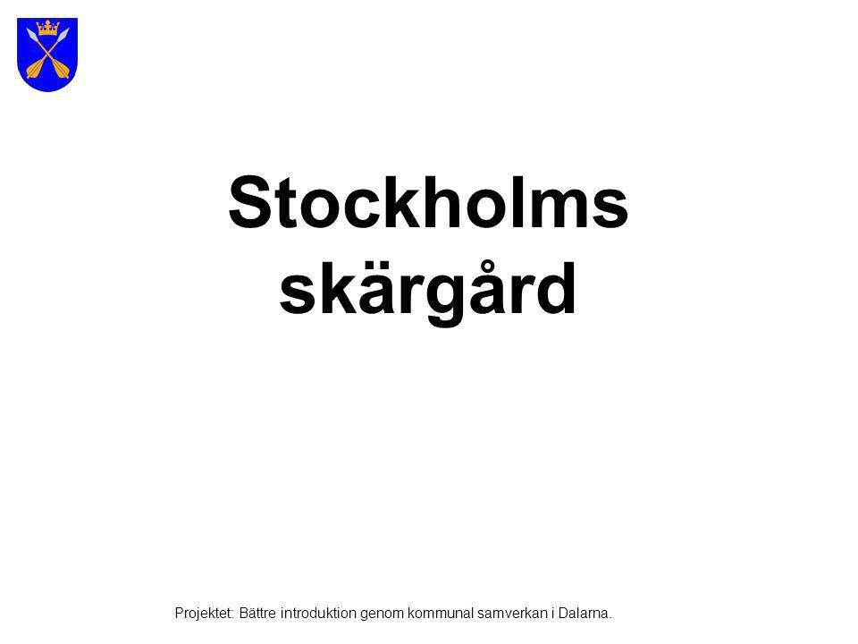 25 000 öar Bild: Multimediabyrån Stockholms skärgård Projektet: Bättre introduktion genom kommunal samverkan i Dalarna.