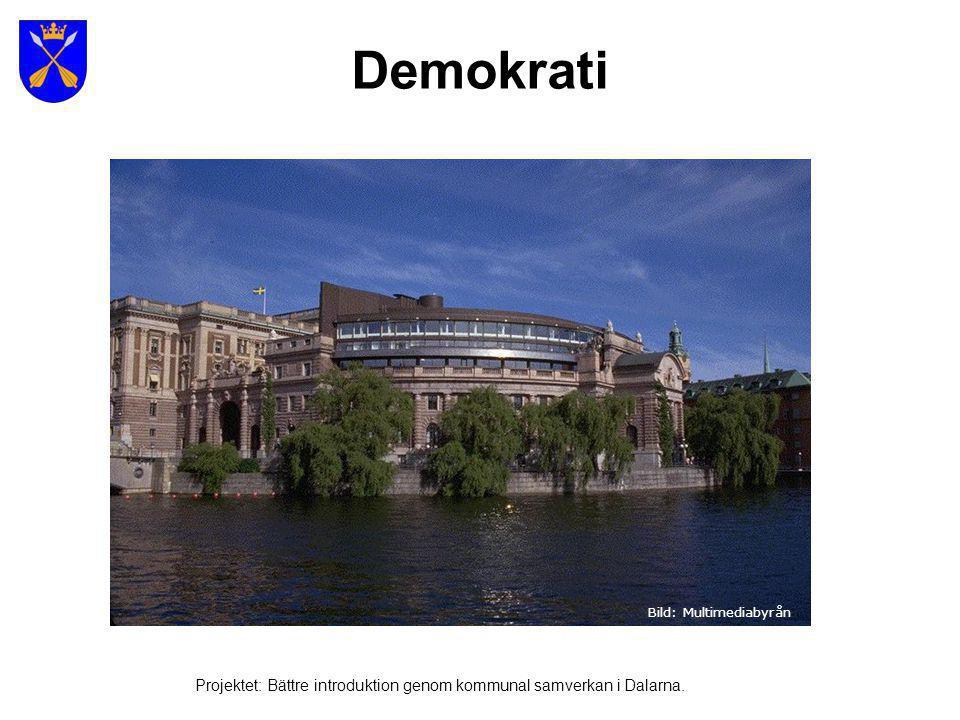Sveriges nuvarande statsministern – Fredrik Reinfeldt Projektet: Bättre introduktion genom kommunal samverkan i Dalarna.