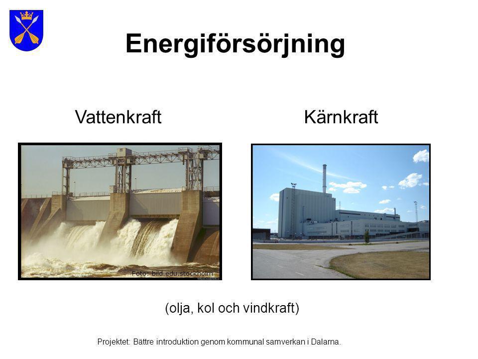 Energiförsörjning Bild från Gotland Foto: bild.edu.stockholm Projektet: Bättre introduktion genom kommunal samverkan i Dalarna.