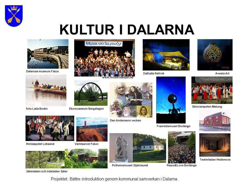 Dalarnas kommuner Projektet: Bättre introduktion genom kommunal samverkan i Dalarna.