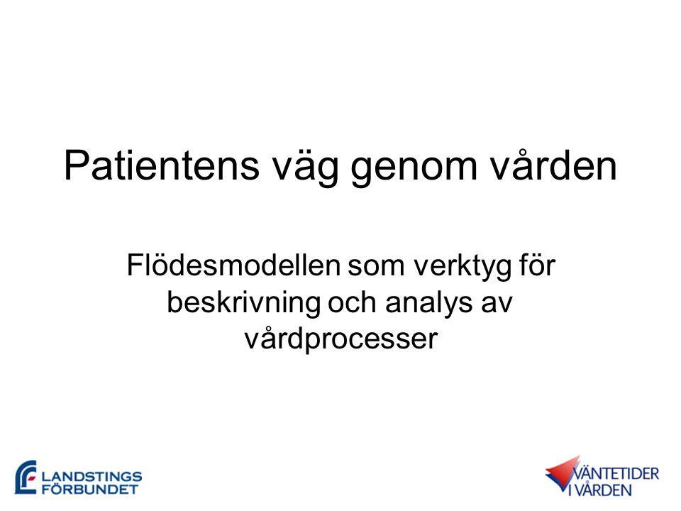 Patientens väg genom vården Flödesmodellen som verktyg för beskrivning och analys av vårdprocesser