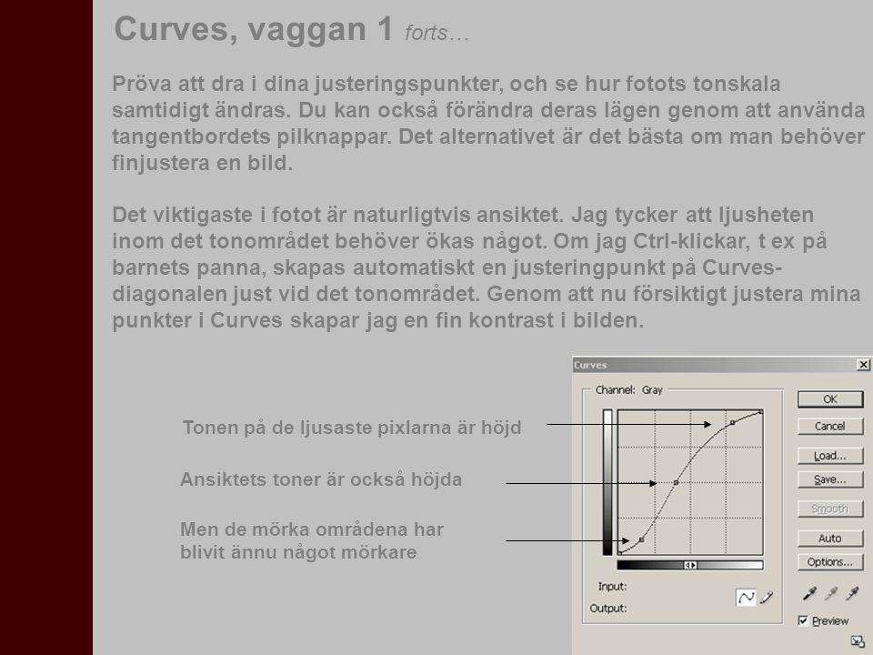 Originalfoto Efter Levels Efter Levels och Curves Curves, vaggan 1 forts…