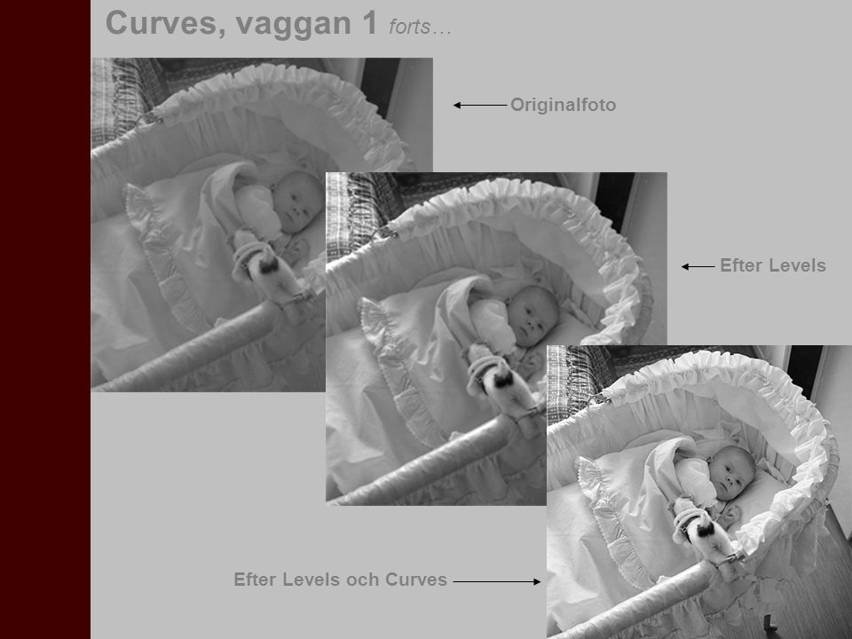 I den här övningen skall vi justera en bild genom att använda Curves, tillsammans med Info-paletten och Color Sampler Tool.